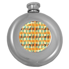 Shredded Abstract Background Hip Flask (5 Oz) by LalyLauraFLM