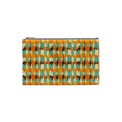 Shredded Abstract Background Cosmetic Bag (small) by LalyLauraFLM