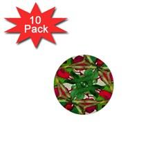 Floral Print Colorful Pattern 1  Mini Button (10 Pack) by dflcprints