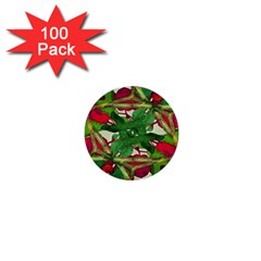 Floral Print Colorful Pattern 1  Mini Button (100 Pack) by dflcprints