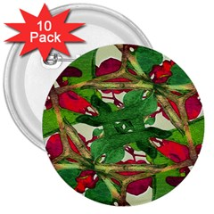 Floral Print Colorful Pattern 3  Button (10 Pack) by dflcprints