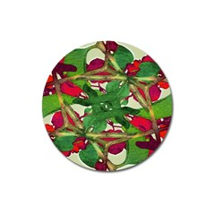 Floral Print Colorful Pattern Magnet 3  (round) by dflcprints