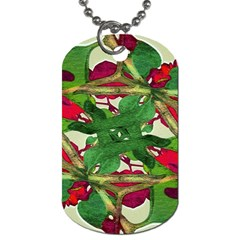 Floral Print Colorful Pattern Dog Tag (one Sided) by dflcprints