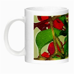 Floral Print Colorful Pattern Glow In The Dark Mug by dflcprints