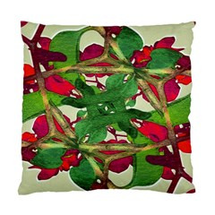 Floral Print Colorful Pattern Cushion Case (Single Sided)  by dflcprints