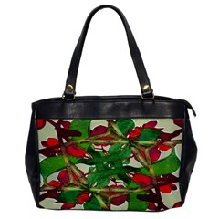 Floral Print Colorful Pattern Oversize Office Handbag (one Side) by dflcprints