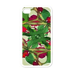Floral Print Colorful Pattern Apple Iphone 4 Case (white) by dflcprints