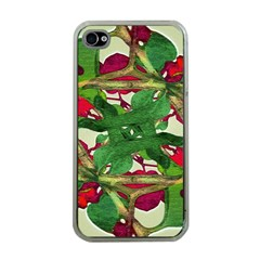 Floral Print Colorful Pattern Apple Iphone 4 Case (clear) by dflcprints
