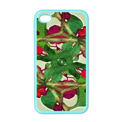 Floral Print Colorful Pattern Apple Iphone 4 Case (color) by dflcprints