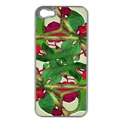Floral Print Colorful Pattern Apple Iphone 5 Case (silver) by dflcprints