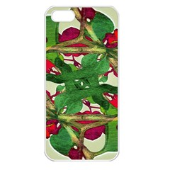 Floral Print Colorful Pattern Apple Iphone 5 Seamless Case (white) by dflcprints