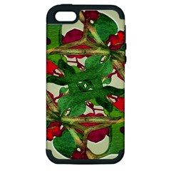 Floral Print Colorful Pattern Apple Iphone 5 Hardshell Case (pc+silicone) by dflcprints
