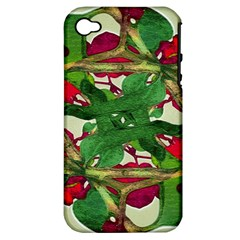 Floral Print Colorful Pattern Apple Iphone 4/4s Hardshell Case (pc+silicone) by dflcprints