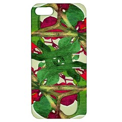 Floral Print Colorful Pattern Apple Iphone 5 Hardshell Case With Stand by dflcprints