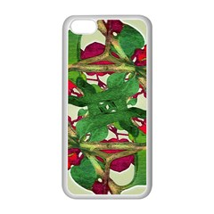 Floral Print Colorful Pattern Apple Iphone 5c Seamless Case (white) by dflcprints