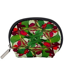Floral Print Colorful Pattern Accessory Pouch (Small)