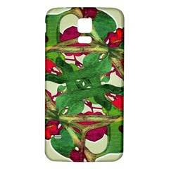 Floral Print Colorful Pattern Samsung Galaxy S5 Back Case (white) by dflcprints