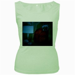 Neanderthal At Night Women s Tank Top (Green) by creationtruth