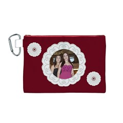 Our Lace Canvas Cosmetic Bag (medium) By Deborah   Canvas Cosmetic Bag (medium)   Sop7ohl9b496   Www Artscow Com Front