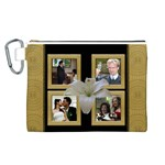 Our Wedding Anniversary Canvas Cosmetic Bag (Large)