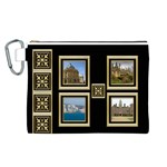 My Black and Gold Canvas Cosmetic Bag (Large)