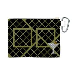 Coctail Canvas Cosmetic Bag (large) By Deborah   Canvas Cosmetic Bag (large)   T0io0gtjpq2l   Www Artscow Com Back