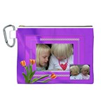 Happy Times 2 Canvas Cosmetic Bag (Large)