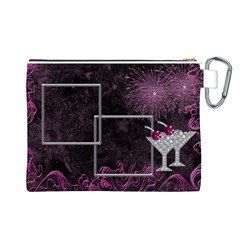 Party Time Canvas Cosmetic Bag (large) By Deborah   Canvas Cosmetic Bag (large)   Y392sgyipnhi   Www Artscow Com Back