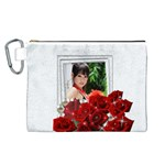 Framed with Roses Canvas Cosmetic Bag (Large)