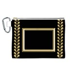 Black and Gold Canvas Cosmetic Bag (Large)