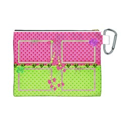 Little Princess Canvas Cosmetic Bag (large) By Deborah   Canvas Cosmetic Bag (large)   1d2jvcvsgq12   Www Artscow Com Back