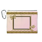 Princess Pink Canvas Cosmetic Bag (Large)