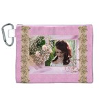 Pink Treasure  Canvas Cosmetic Bag (XL)