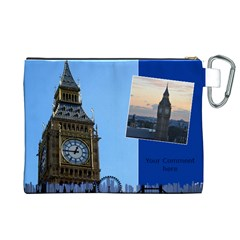My London Canvas Cosmetic Bag (xl) By Deborah   Canvas Cosmetic Bag (xl)   G1myg2dtardl   Www Artscow Com Back