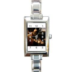 Abraham Rectangular Italian Charm Watch by RembrandtRowe