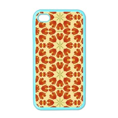 Colorful Floral Print Vector Style Apple Iphone 4 Case (color) by dflcprints