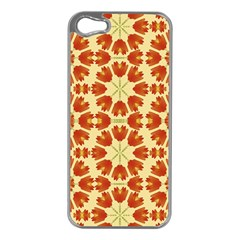 Colorful Floral Print Vector Style Apple Iphone 5 Case (silver) by dflcprints