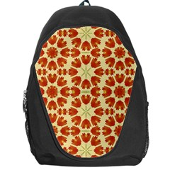 Colorful Floral Print Vector Style Backpack Bag by dflcprints
