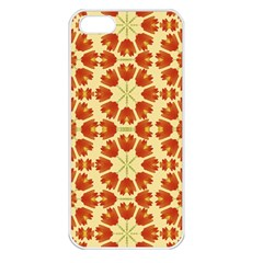 Colorful Floral Print Vector Style Apple Iphone 5 Seamless Case (white) by dflcprints