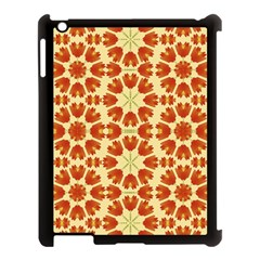 Colorful Floral Print Vector Style Apple iPad 3/4 Case (Black) by dflcprints