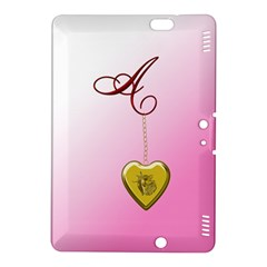 A Golden Rose Heart Locket Kindle Fire Hdx 8 9  Hardshell Case