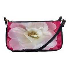 White Rose With Pink Leaves Around  Evening Bag by dflcprints