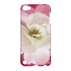 White Rose With Pink Leaves Around  Apple Ipod Touch 5 Hardshell Case by dflcprints