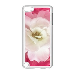 White Rose With Pink Leaves Around  Apple Ipod Touch 5 Case (white) by dflcprints