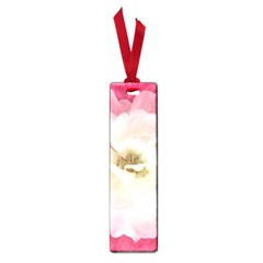 White Rose With Pink Leaves Around  Small Bookmark by dflcprints
