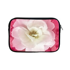 White Rose With Pink Leaves Around  Apple Ipad Mini Zippered Sleeve by dflcprints