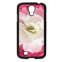 White Rose With Pink Leaves Around  Samsung Galaxy S4 I9500/ I9505 Case (black) by dflcprints