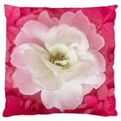 White Rose With Pink Leaves Around  Standard Flano Cushion Case (two Sides) by dflcprints