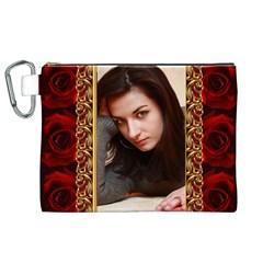 My Rose Canvas Cosmetic Bag (xl) By Deborah   Canvas Cosmetic Bag (xl)   C0zfwu4y8ze4   Www Artscow Com Front