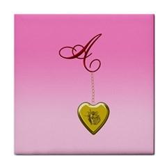 A Golden Rose Heart Locket Face Towel by cherestreasures